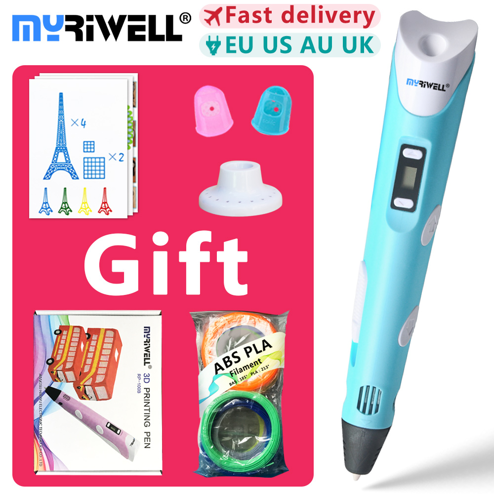 цены на myriwell 3d pens + 20 * 10m ABS Filament,3 d pen 3d model,Creative 3d printing pen,pen-3d magic pen Children giftspen 3 d 2018  в интернет-магазинах