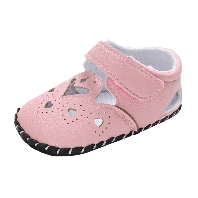 Summer Baby Girl Shoes Cute PU Soft Sole Anti-slip Crib Shoes First Walkers Walking Shoes