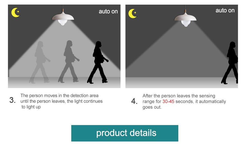 Smart PIR Motion Sensor LED Lamp Light (6)