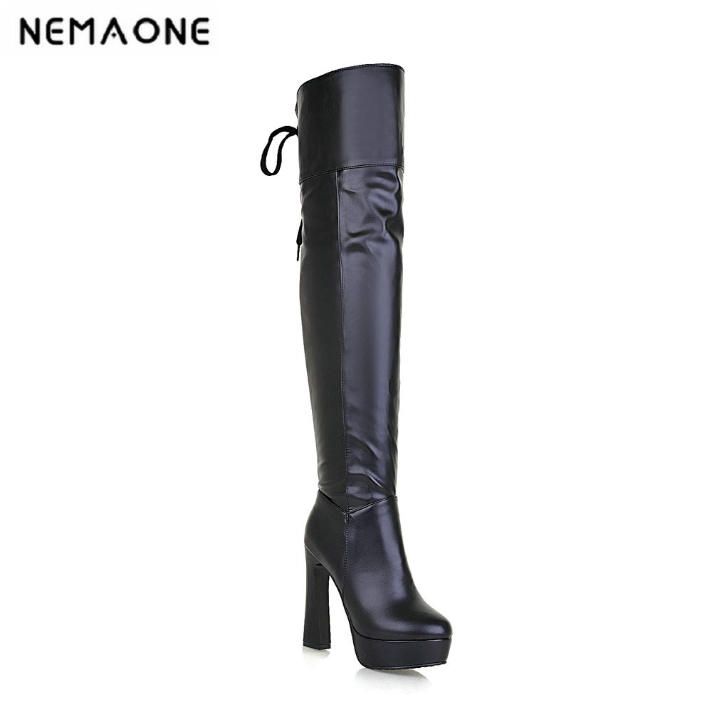 2019 Women Super High Heel Over The Knee Boots Elastic Band thin High Heel Sexy Women Party club Shoes Black White And Brown 2019 spring autumn sweet knee high 9cm super high heel women boots thin women shoes party shoes it s green apricot and red