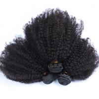 Пряди человеческих волос для наращивания монгольский афро кудрявый вьющиеся волосы Девы утка 3 Связки (bundle) вы можете