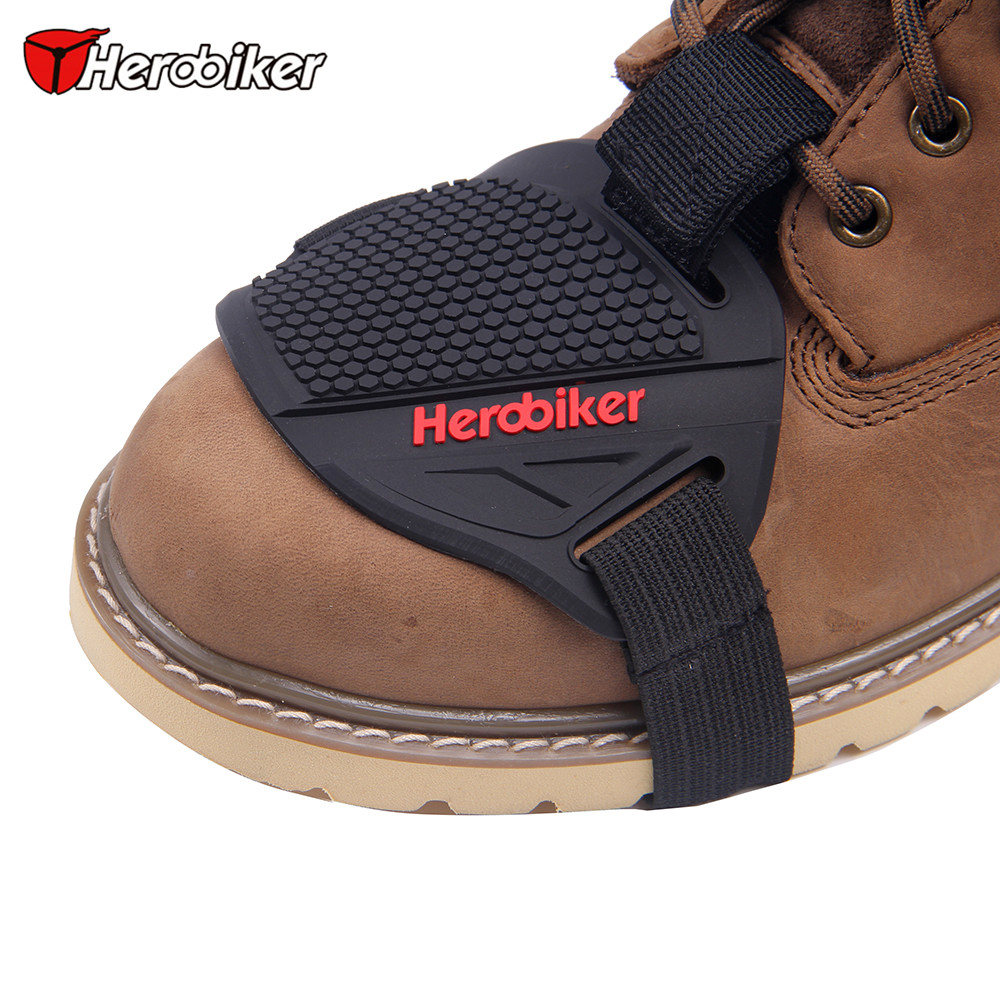 HEROBIKER Motorrad Shift Pad Für Reiten Gummi Schalthebel Shifter Schuh Stiefel Protector Shift Motorrad Boot Abdeckung