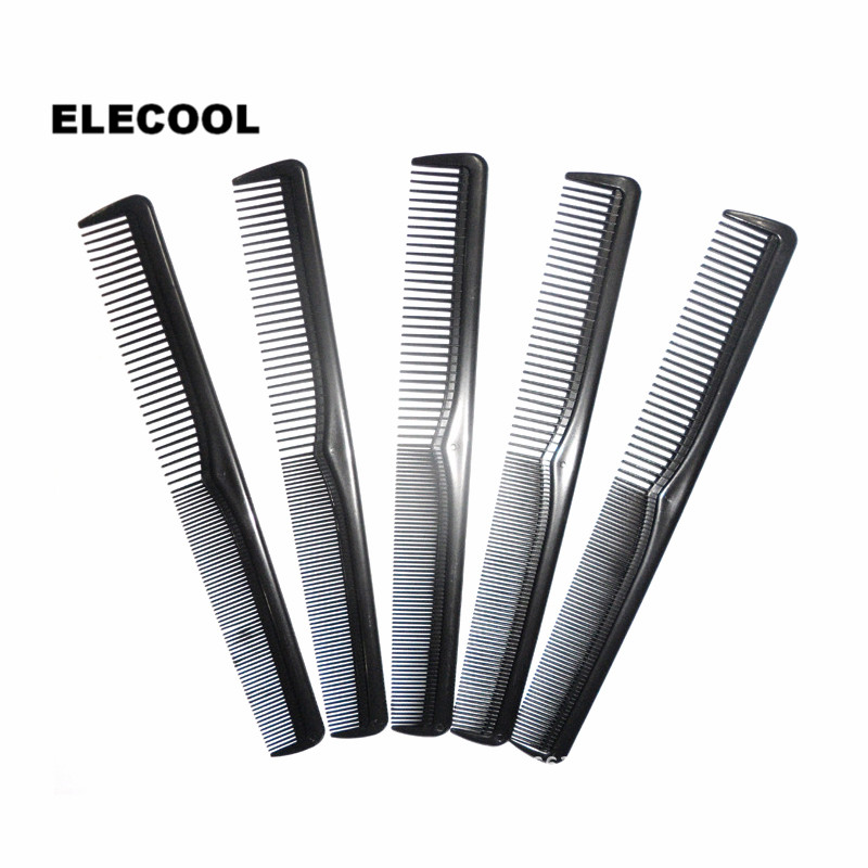 ELECOOL 10PCs Anti-static Black Plastic Comb Home Travel Pocket Sectioning Comb Hair & Grooming Hairdressing Tool