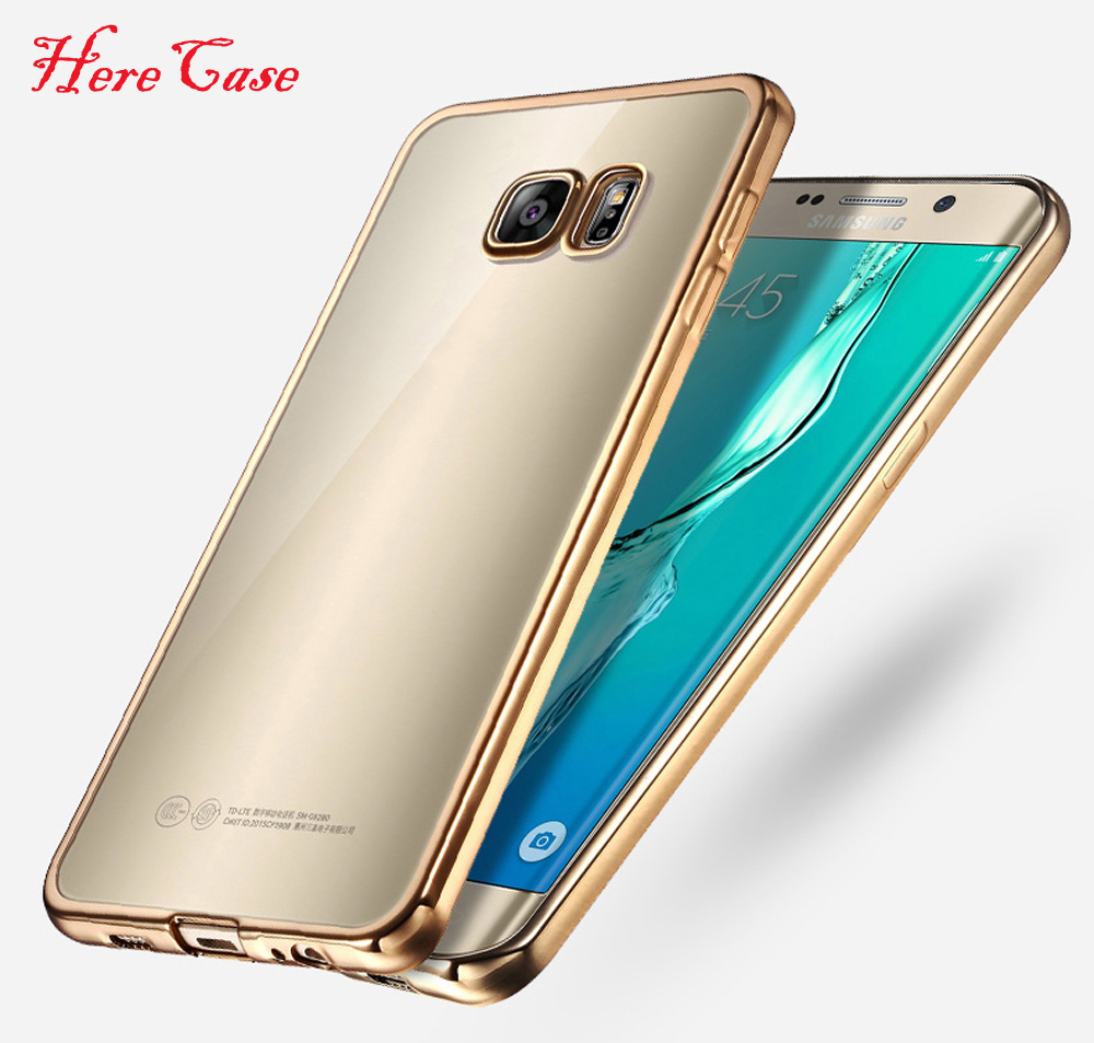 Luxury Gold Plating Crystal Soft TPU Case For <font><b>Samsung</b></font> Galaxy S9 S6 S7 Edge S8 Plus <font><b>C5</b></font> C7 C9 Pro Note 8 5 4 3 Silicone <font><b>Back</b></font> <font><b>Cover</b></font> image