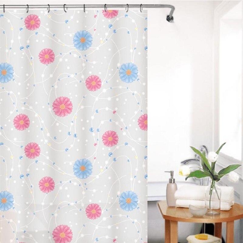 Neue Stoff PEVA verdicken wasserdicht Blumen dusche vorhänge bad ...