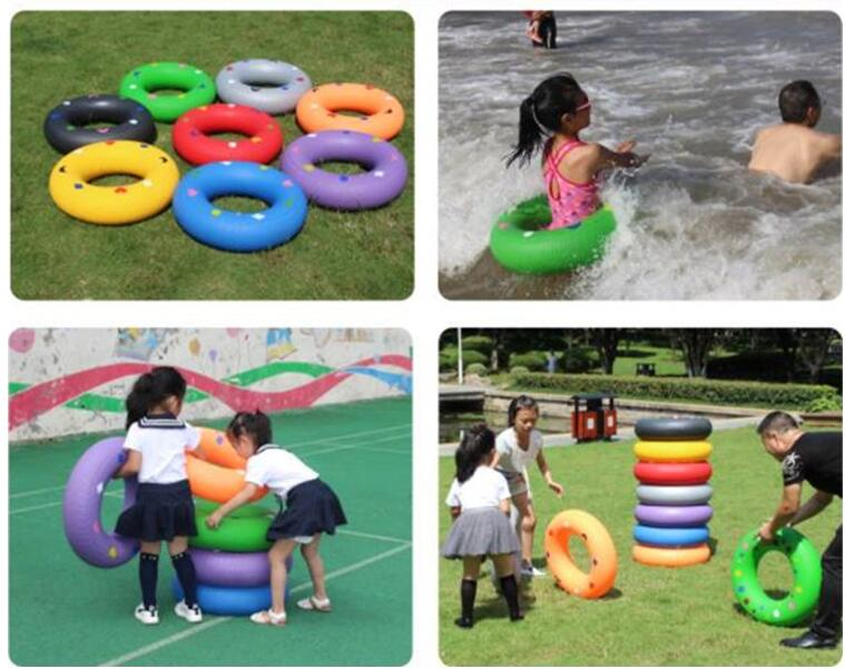 Rolling Tire Race Game Inflatable Tire Kids Children