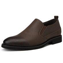 British Men's Casual Shoes Soft Split Leather Black Comfortable Slip On Flats Hot Sale Men Shoes Plus Big Size DA0183 цена в Москве и Питере