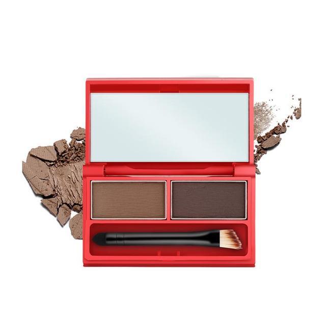 Cejas Maquillaje Kit Set 2 Colores A Prueba de Polvo de Cejas Sombra de Ojos Maquillaje Paleta de Belleza de Las Mujeres Cosméticos