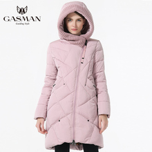 GASMAN 2019 New Winter Collection Brand Fashion Thick Women Winter Bio Down Jackets Hooded Women Parkas Coats Plus Size 5XL 6XL cheap Casual zipper 1702 Full Polyester Space Cotton Sustans Thick (Winter) Woven Slim Solid Long Zippers Pockets