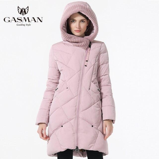 16784f8f1ea97 GASMAN 2019 Yeni Kış Koleksiyonu Marka Moda Kalın Kadın Bio Aşağı Ceketler  Kapşonlu Kadınlar Parkas Palto Artı Boyutu 5XL 6XL