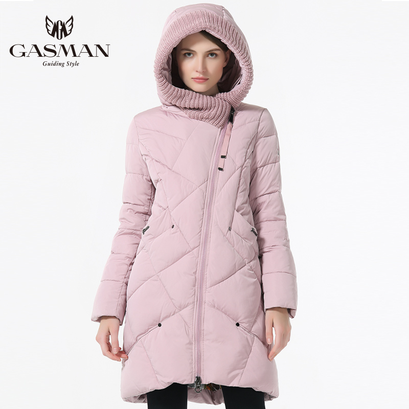 GASMAN 2019 nueva colección de invierno de moda de la marca de las mujeres gruesas de invierno Bio chaquetas con capucha mujer Parkas abrigos Plus tamaño 5XL 6XL
