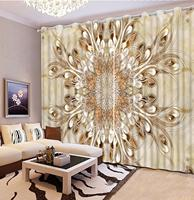 Marble pattern 3D curtains