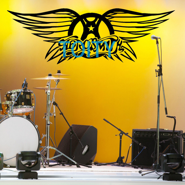 AEROSMITH LOGO Vinyl Wall art sticker decal mural music Poster H39cm ...