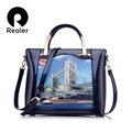 Дизайнерская сумка бренда Realer 2016 года,сумка через плечо,дамская сумочка высокого качества,сумка из PU кожи