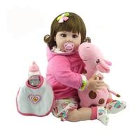 20 НПК кукла с жирафом куклы в полный тело силикона виниловые очаровательны реалистичные одежда для малышей Bonecas девочек Bebe Reborn куклы
