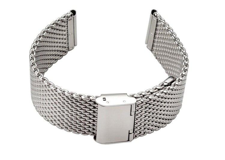 Image 5 - Wholesale High quality 10PCS/lot 18MM ,20MM ,22MM Stainless Steel  Watch band Watch strap Bracelets Strap sliver color WBS001bracelet  amuletbracelet packagingbracelet rondelle