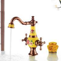 Новое поступление высокое качество розовое золото готовые холодной и горячей кран для раковины ванной комнаты бассейна кран с 50 см водопро