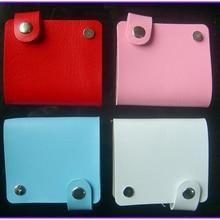 1X Синтетическая кожа держатели для папок чехлы сумка альбом рукав для ногтей пластины шаблон наклейки для ногтей доступны разные цвета