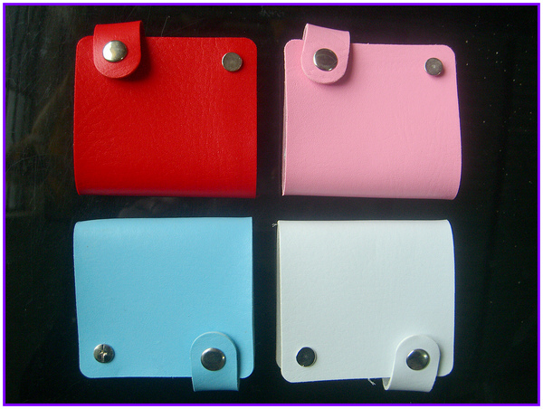 1X Synthetic Leather Folder Holders Cases Bag Album Sleeve For Nail Plate Template Nail Sticker Multi Colors Available