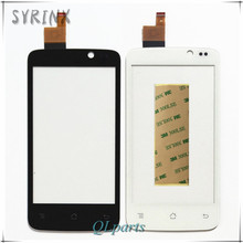 Syrinx +Tape Mobile Phone Touch Screen Digitizer For Fly IQ447 IQ 447 ERA Life1 Front Glass Panel Touchscreen Sensor replacement
