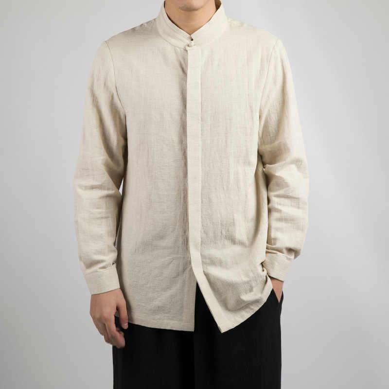 Tradictional 中国の服長袖コットンシャツカンフー太極拳唐装中国スタイルトップス CN-034