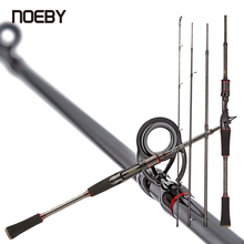 NOEBY 95% Carbon Fishing Rod Casting Spinning Travel Rod1.98m 2.1m 4 Section M Power 7-28g Fast Action Lure Sensitive