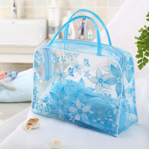 2020 New 1PCS New Waterproof PVC Transparent Storage Bag Flower Makeup Toiletry Travel Wash Cosmetic Pouch Large Capacity(China)
