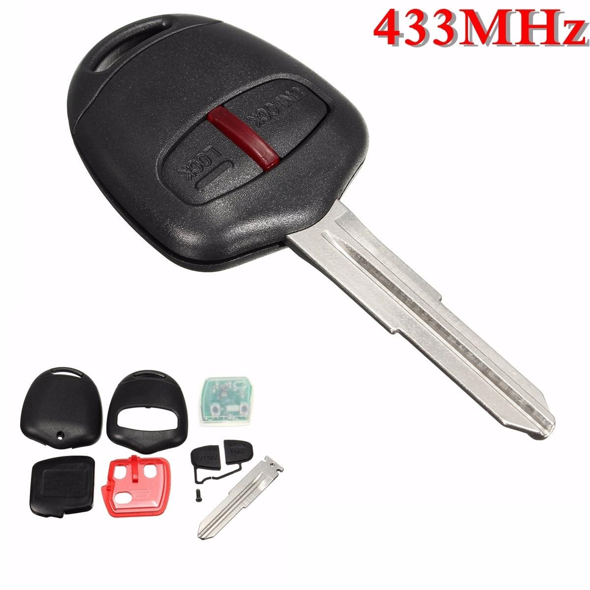 2 Button Remote Key 433MHz ID46 Chips For Mitsubishi L200 Shogun Pajero Triton