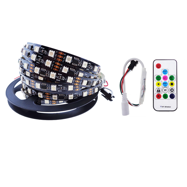 ws2811 Led Strip 5M with SP103E Controller smart IC addressable individually ip30 not waterproof 5050 RGB SMD 150leds UR