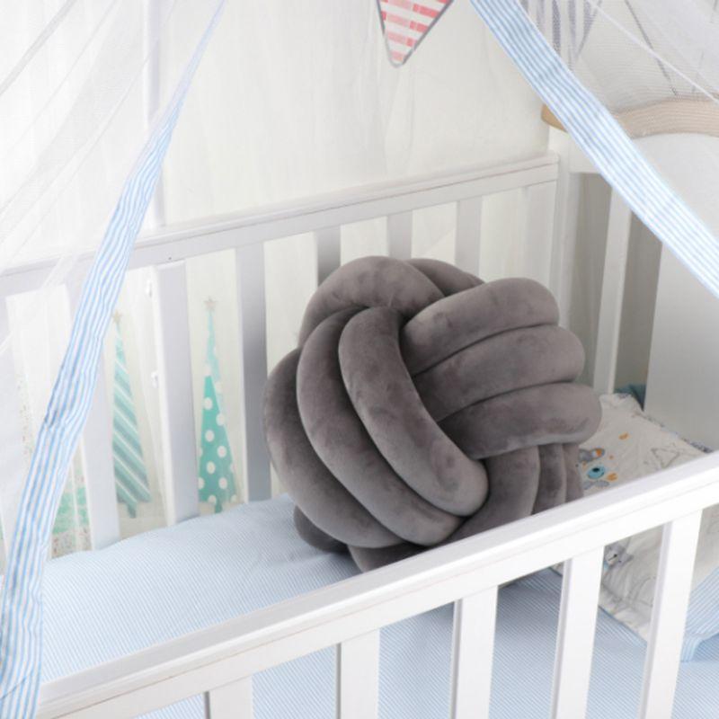 HTB1PAykXRv0gK0jSZKbq6zK2FXaa Soft Knot Ball Cushions Bed Stuffed Pillow Home Decor Cushion Ball Plush Throw