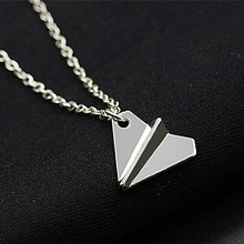 N2085 Minimalist Clavicle Necklaces Women Bijoux Paper Plane Tiny Necklaces Dainty Fashion Jewelry Beach Collares One Direction(China)