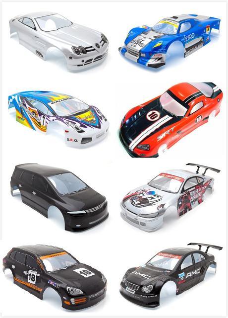 Ewellsold 1:10 r/c רכב אביזרי 1/10 r/c רכב גוף מעטפת עבור 1:10 r/c car190mm מרובה אפשרויות 1 יח\חבילה
