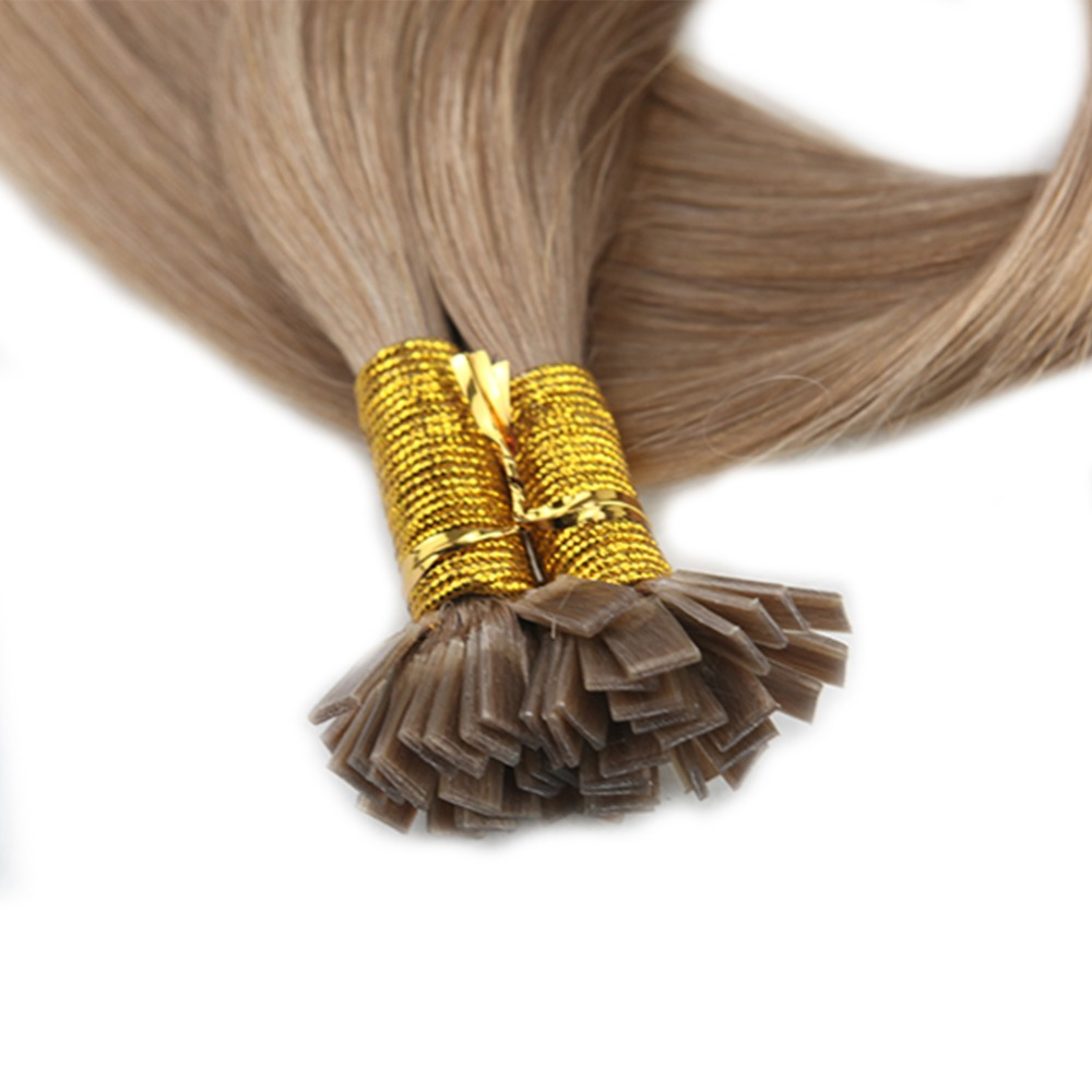 Full Shine Ash Blonde Flat Tip Hair Color 18 Pre Bonded Extensions 08g Per Strand 40g 100 Remy Human Hair Flat Tip Extensions In Flat Tip From Hair