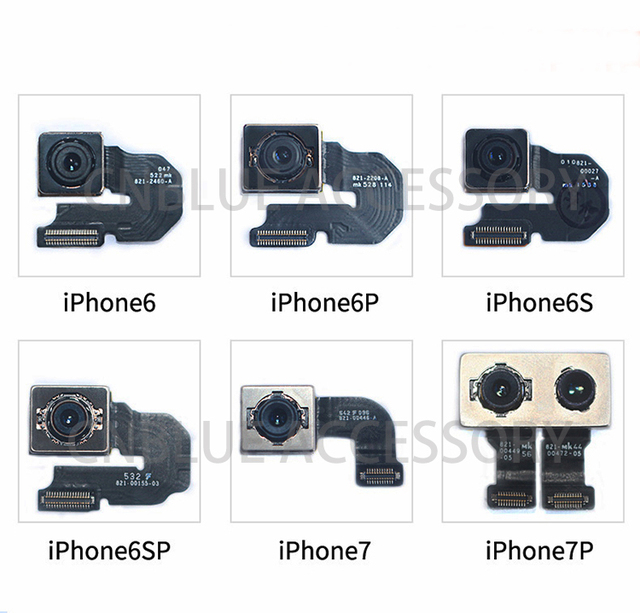 Original 100% New Back Camera Rear Main Lens For iphone SE  6 6 Plus 6S 6S Plus 7 7 Plus 8 8 Plus X  Flex Cable Ribbon Tested OK