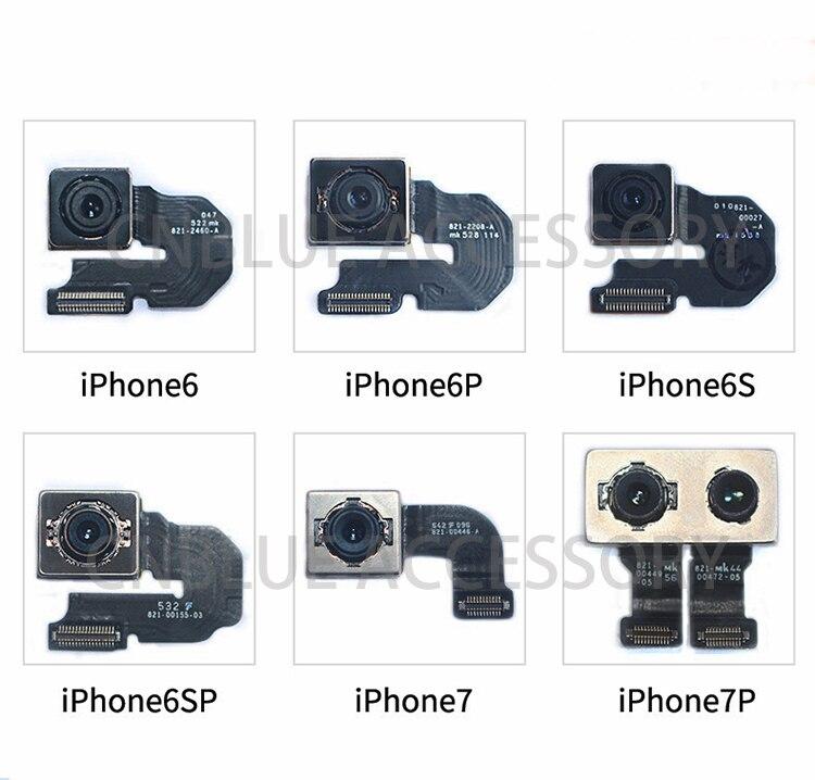 Original 100% nouvel objectif principal arrière de la caméra arrière pour iphone SE 6 6plus 6 S 6 S Plus 7 7plus 8 8plus X ruban de câble flexible testé OK