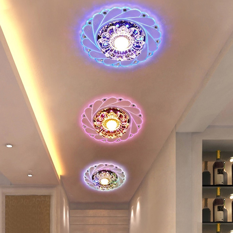 HTB1PAz2of6H8KJjy0Fjq6yXepXa1 Modern LED Crystal Ceiling Light Circular Mini Ceiling Lamp Luminarias Rotunda Light For Living Room Aisle Corridor Kitchen