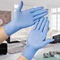 100 UNID Ultra Fina de Limpieza Del Hogar guantes de nitrilo Médica Desechable Tatoo Mecánico Laboratorio de reparación En Polvo Libre de látex de caucho