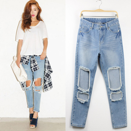Aliexpress.com : Buy 2015 summer style ripped boyfriend jeans for