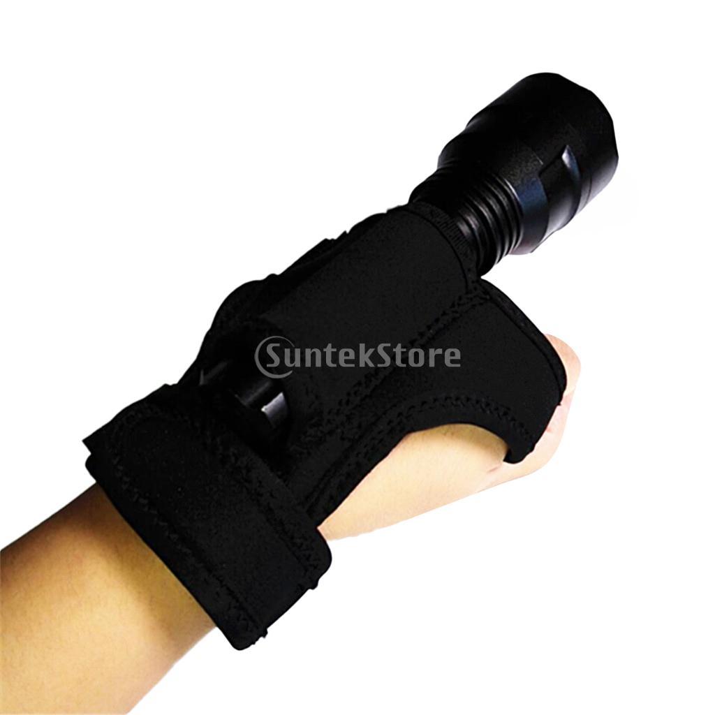 Outdoor Underwater Scuba Diving Dive LED Torch Flashlight Holder Soft Black Neoprene Hand Arm Mount Wrist Strap Glove Hand Free gopro wrist strap mount arm strap mount hook