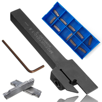 Mayitr 10pcs MGMN150 G Insert MGEHR 1010 1 5 External Grooving Lathe Holder 10x10x100mm With Wrench