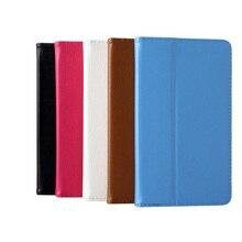 "Ultra Slim Litchi Grain 2-Fold Folio Stand capa de couro Pouch Bag Protector capa Lenovo Tab 2 A7-10F A7-10 A7 10F 7 "" Tablet"