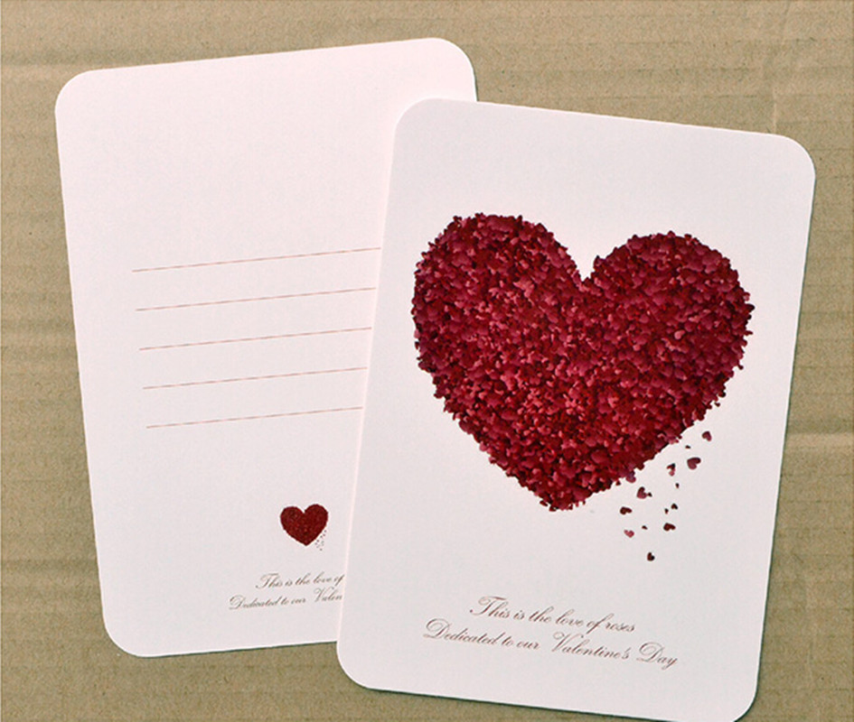 love heart shaped wedding invitation card table number party