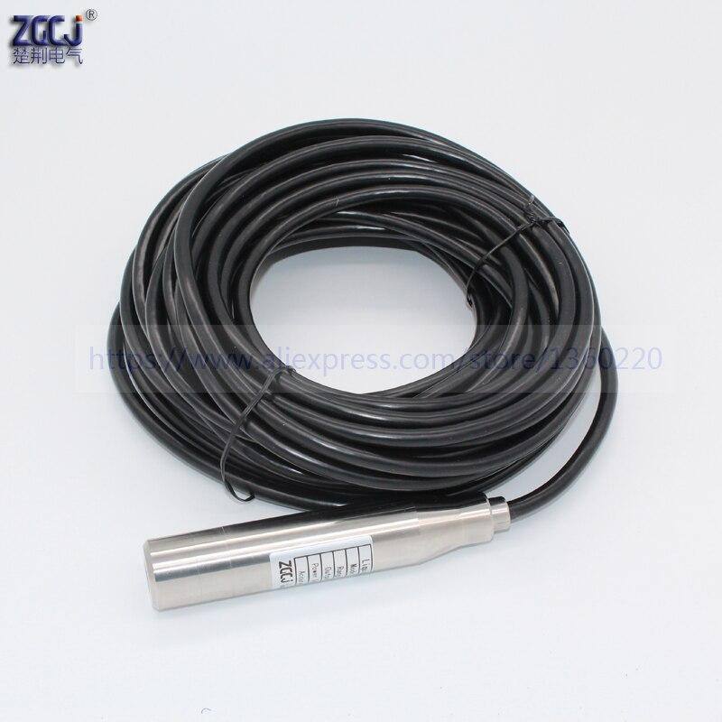 8 m Misura range trasmettitore di livello del liquido 24VDC 4-20mA DC livello dellacqua trasduttore con 8 m di cavo8 m Misura range trasmettitore di livello del liquido 24VDC 4-20mA DC livello dellacqua trasduttore con 8 m di cavo