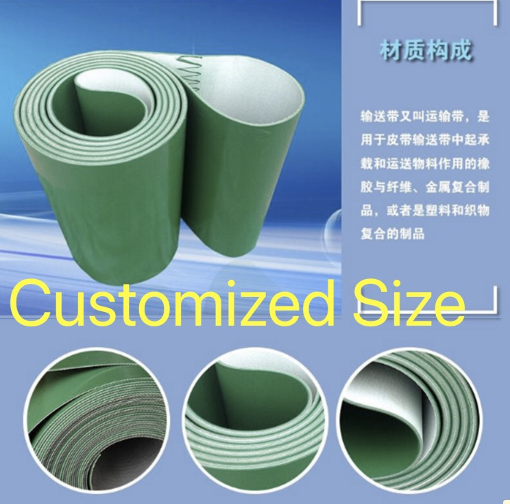 (Can Customized Size) Perimeter:1000mm Width:100mm Thickness:3mm Industrial transmission line belt conveyor PVC belt 500mm width 1000mm middle drive compact belt conveyor factory supply conveyor 30kg pvc pu belt constant or variable speed