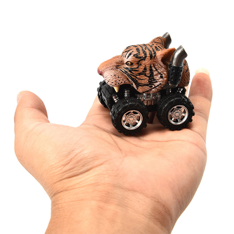 Animal Style Car Model Mini Toy Car Vehicle Animal Pull Back Cars With Big Tire Wheel Creative Gifts For Kids