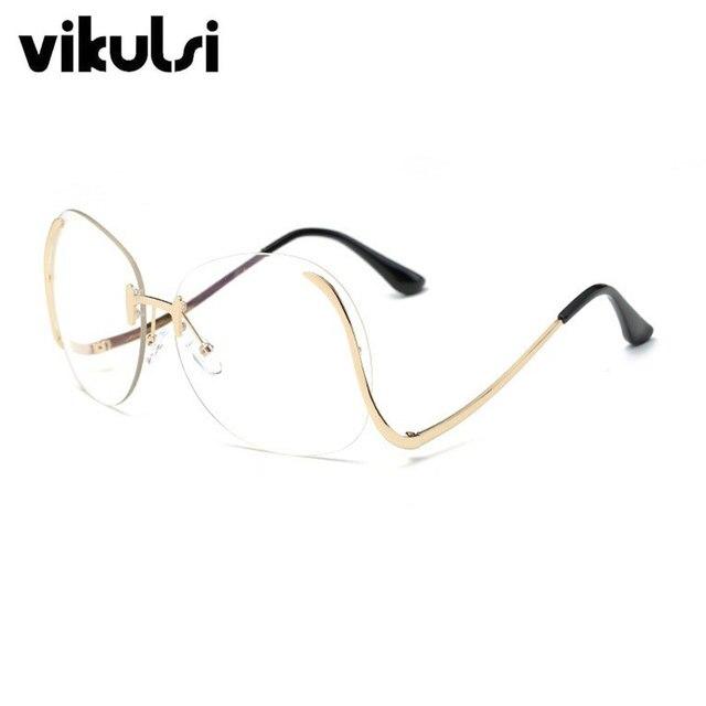 Tienda Online Vintage Lente Transparente Gafas Sin Montura Marcos de ...