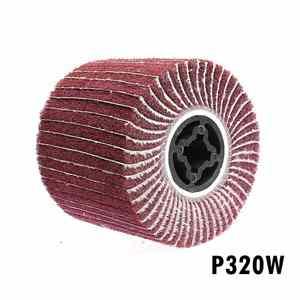 Image 4 - 1 ピース 120*100*19 ミリメートル不織布サテンコンビモップホイール研磨ストライピングホイールステンレス鋼