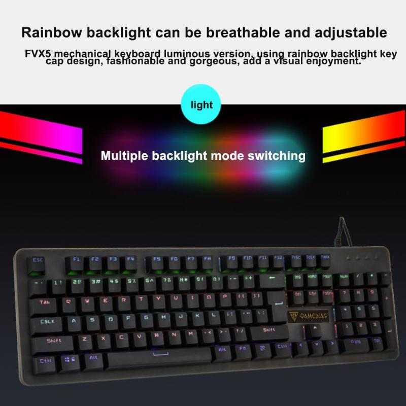 alloyseed mechanical keyboard gaming keyboard ip68 waterproof usb wired 104 keys keyboard with. Black Bedroom Furniture Sets. Home Design Ideas