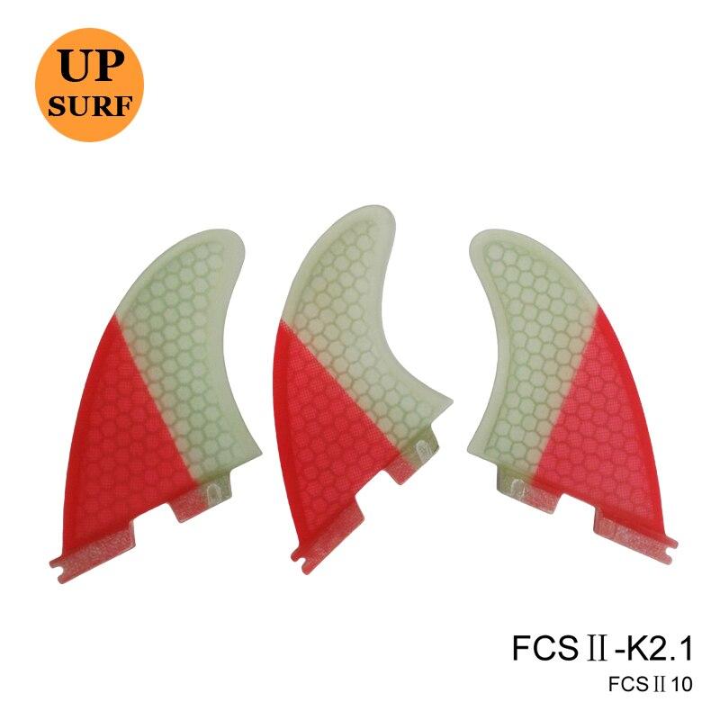 Surf FCS2 Fin K2.1 Ροζ Fiberglass Fin (Tri - Set) Surf FCSII Surfboard Fin Quilhas Surf Finnen FCS ii