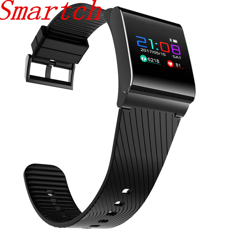 Smartch 0 95 Color Touch Screen Wristband X9 Pro BLE 4 0 Smart Band Heart Rate